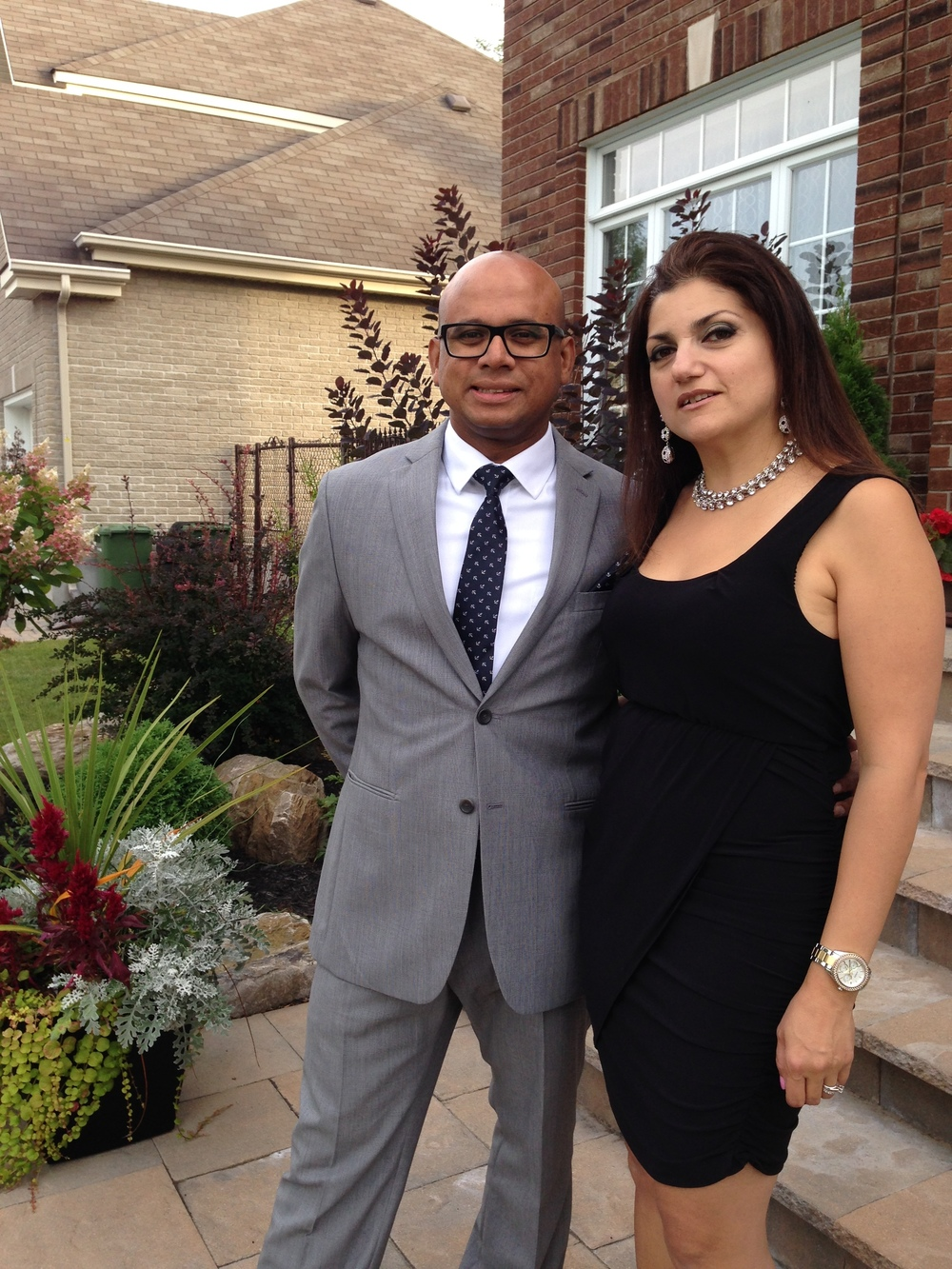 August 2014 on my way to my cousin's wedding with my husband Ashiq. I was 4 months into the Weight Watchers program and had already lost 8 lbs. .