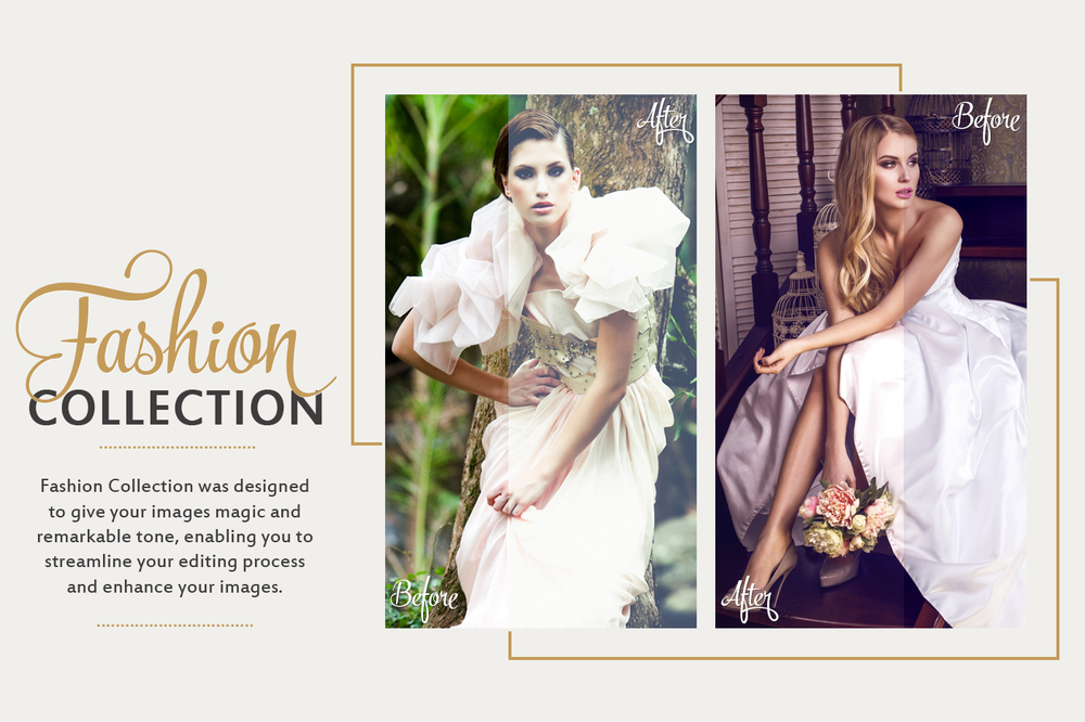 Fashion Lightroom Presets, Photoshop actions & Camera RAW Presets