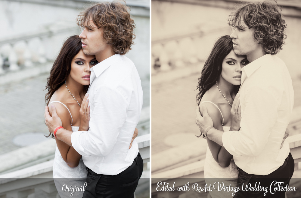 Vintage Wedding Lightroom Presets, Photoshop actions & Camera RAW Presets by @BeArtPresets