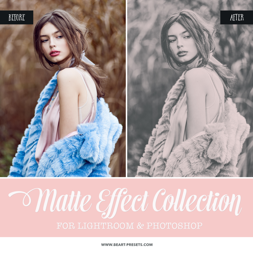 Faded effect Lightroom presets