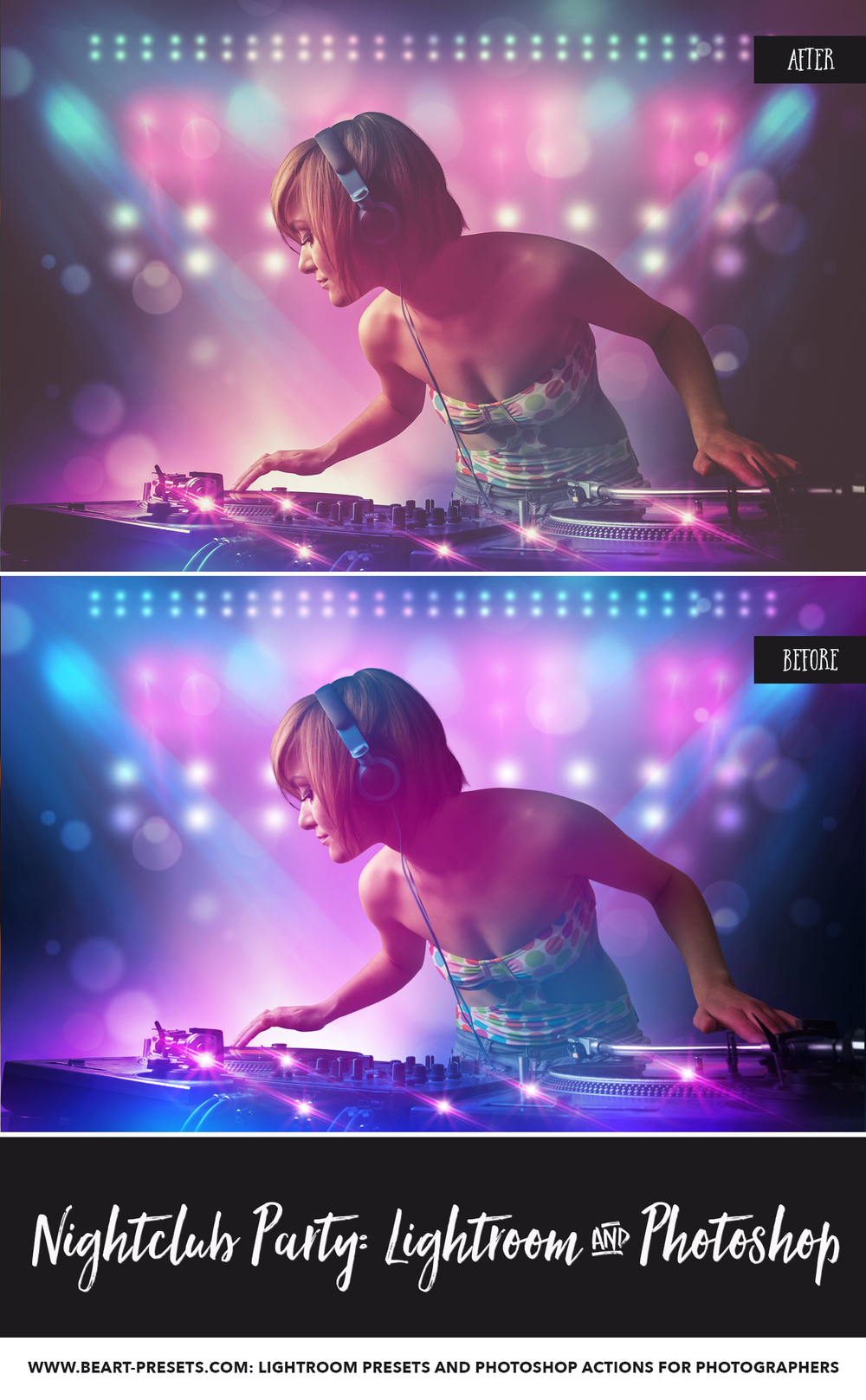 nightclub photography lightroom presets