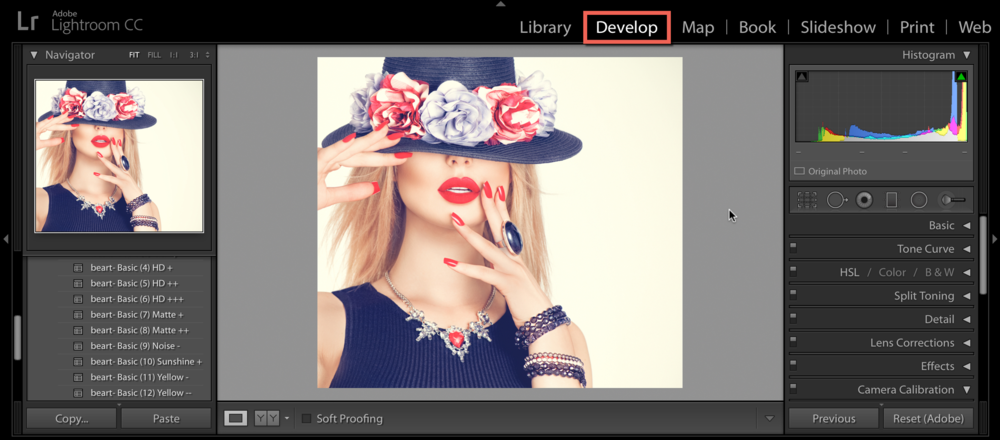 IMPORT YOUR IMAGE INTO LIGHTROOM