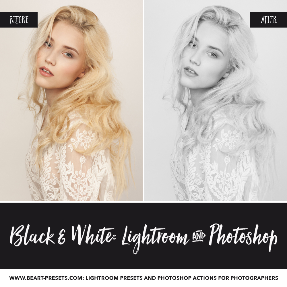 lightroom black and white presets portraits