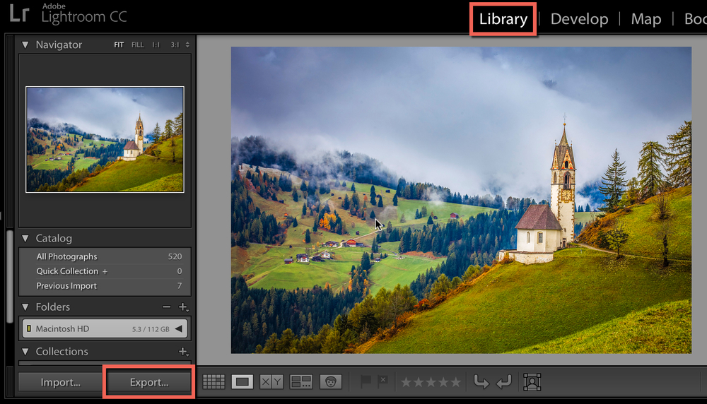 export-photo-in-lightroom