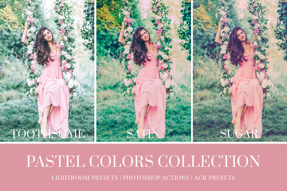 Soft pastel film like Lightroom preset for wedding photographers Jose Villa inspired