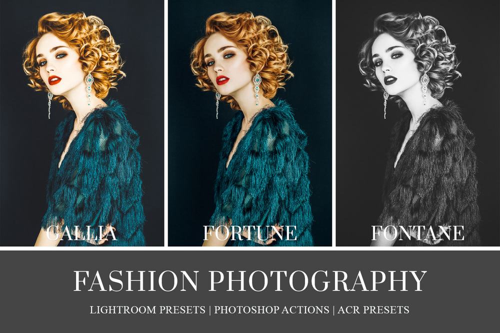 Fashion Actions and Lightroom Presets