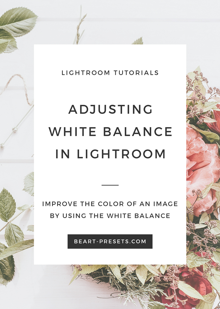 How to adjust white balance in Lightroom | Photography Tutorials by @BeArtpresets