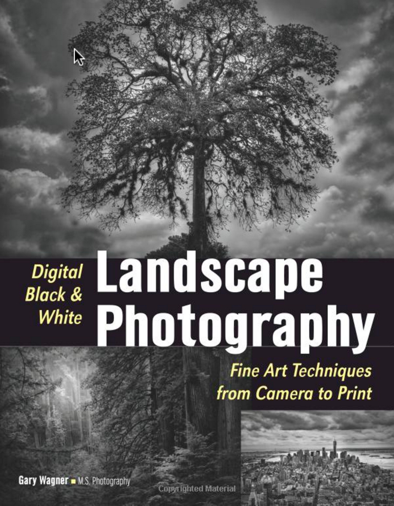 Digital black white landscape photography book
