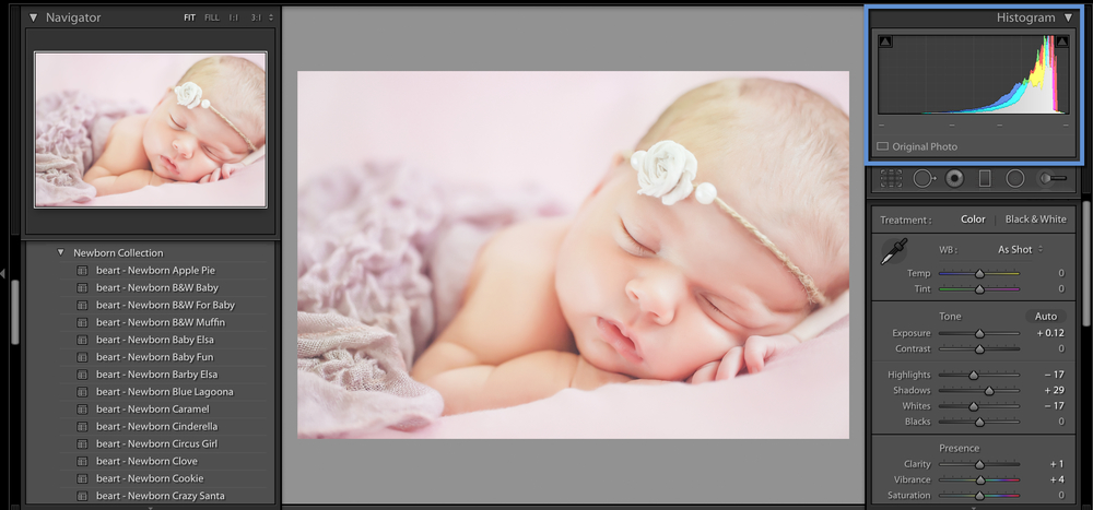 newborn photo for lightroom and photoshop
