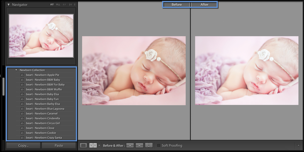 the best newborn lightroom presets collection by beart presets