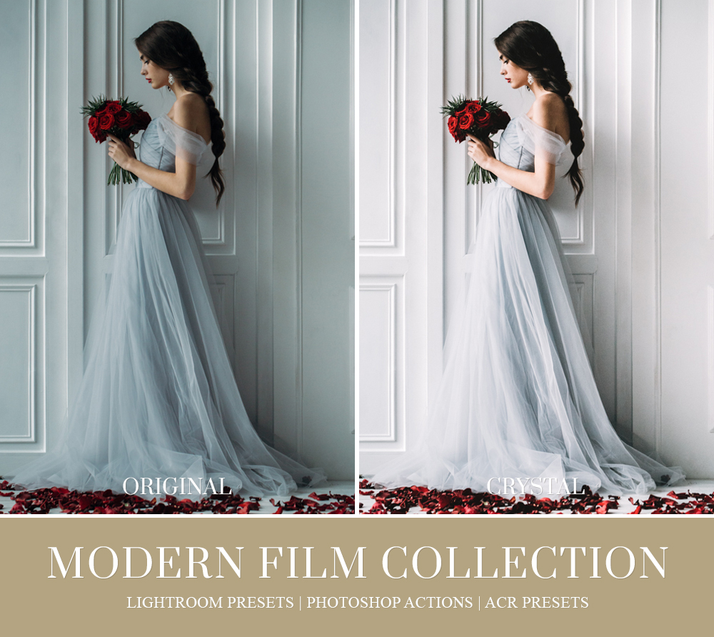 Film inspired lightroom preset for wedding photography