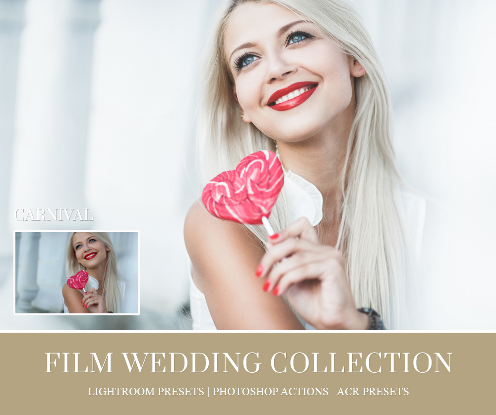 Film photoshop actions for wedding photographer