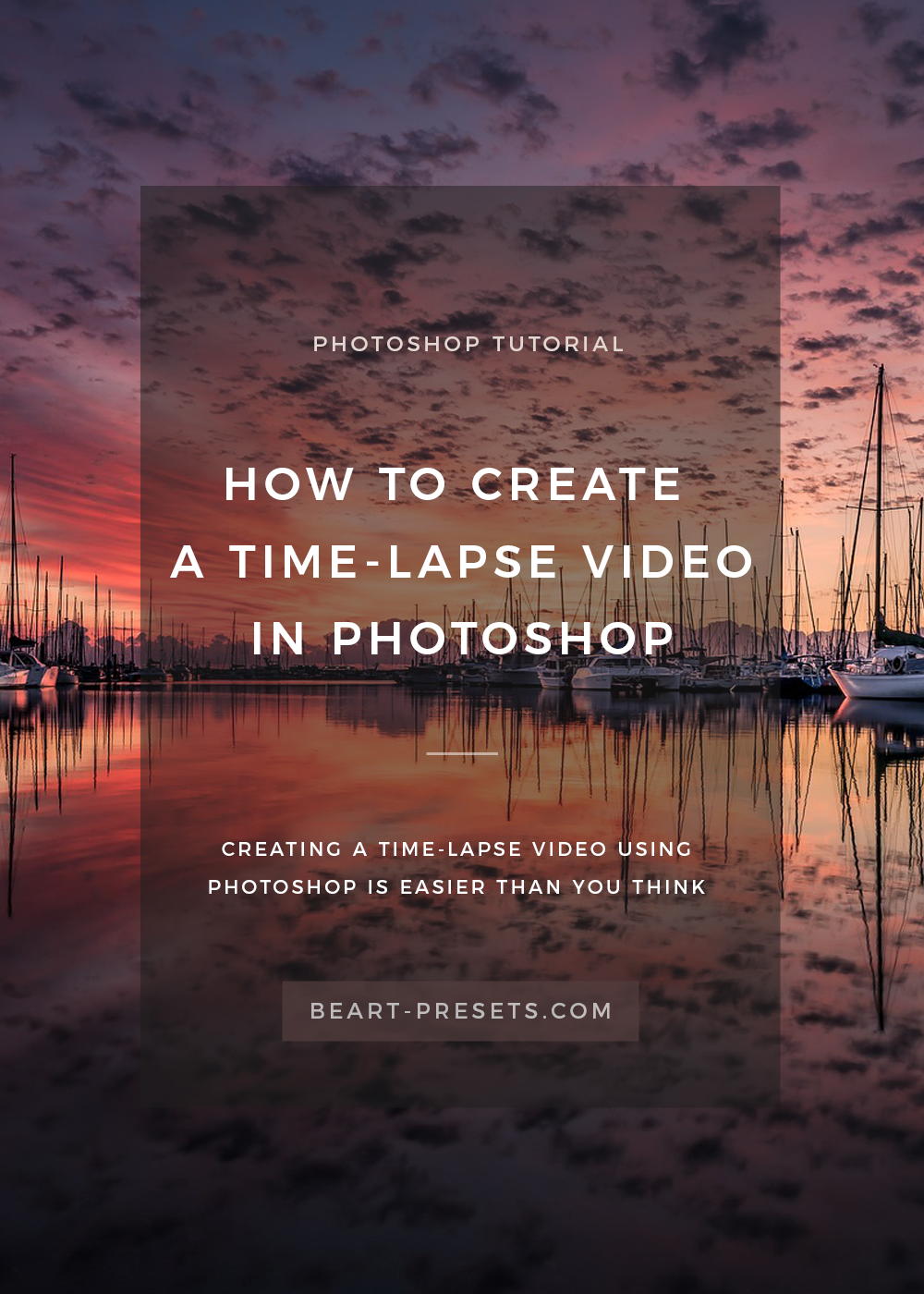 create time lapse video in photoshop