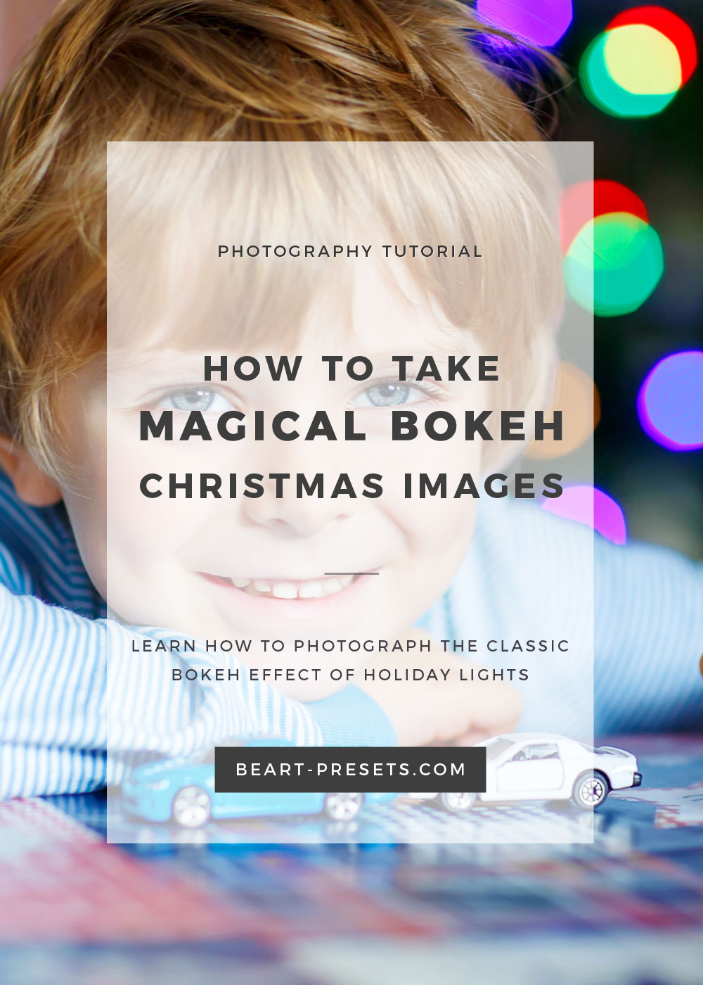 Learn how to photograph the magic bokeh effect of holiday Christmas lights