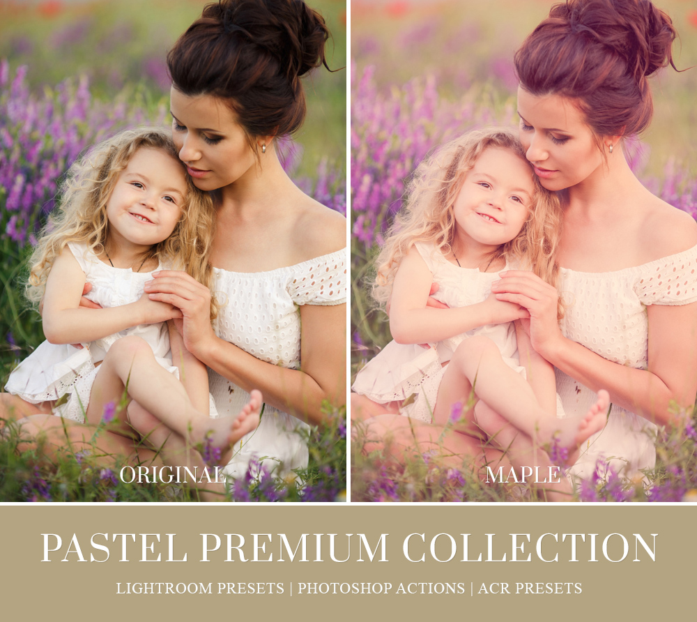Pastel Lightroom preset for family shoots