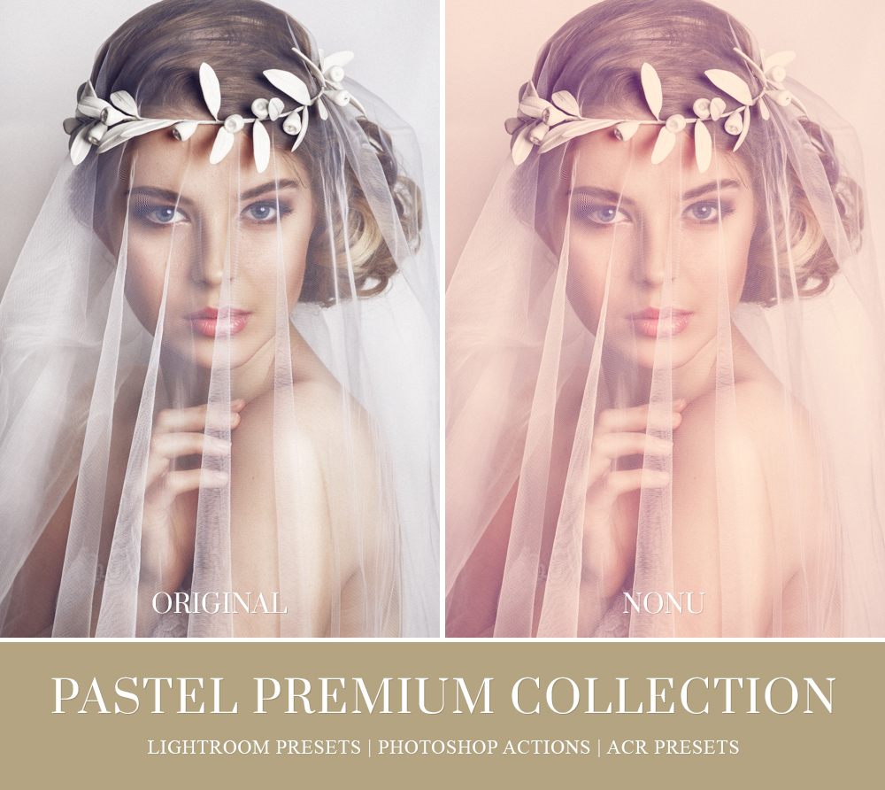 Pastel lightroom presets for weddings