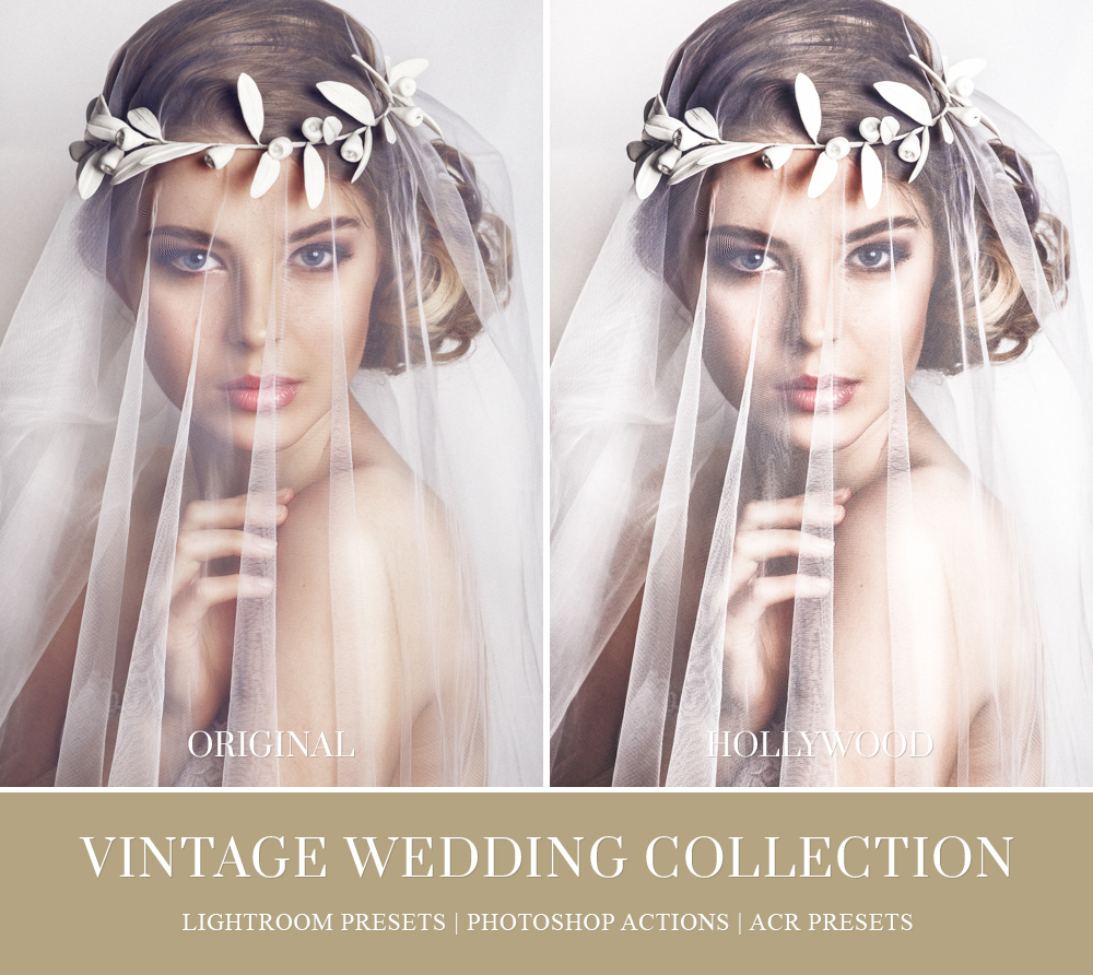 Vintage wedding Camera RAW presets for Photoshop