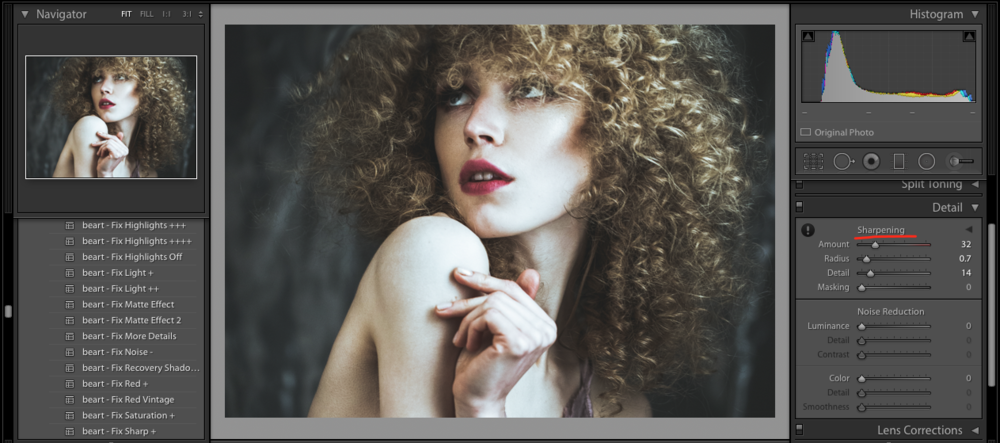 sharp your image in lightroom
