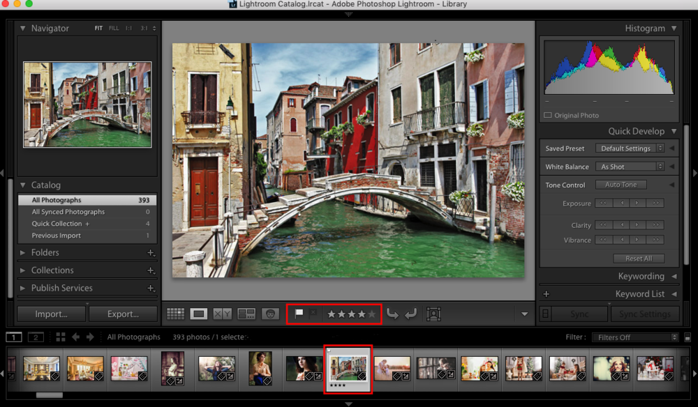 auto advance option in lightroom