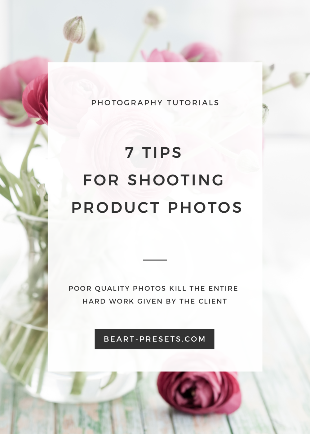 Tips for Shooting Great Product Photos