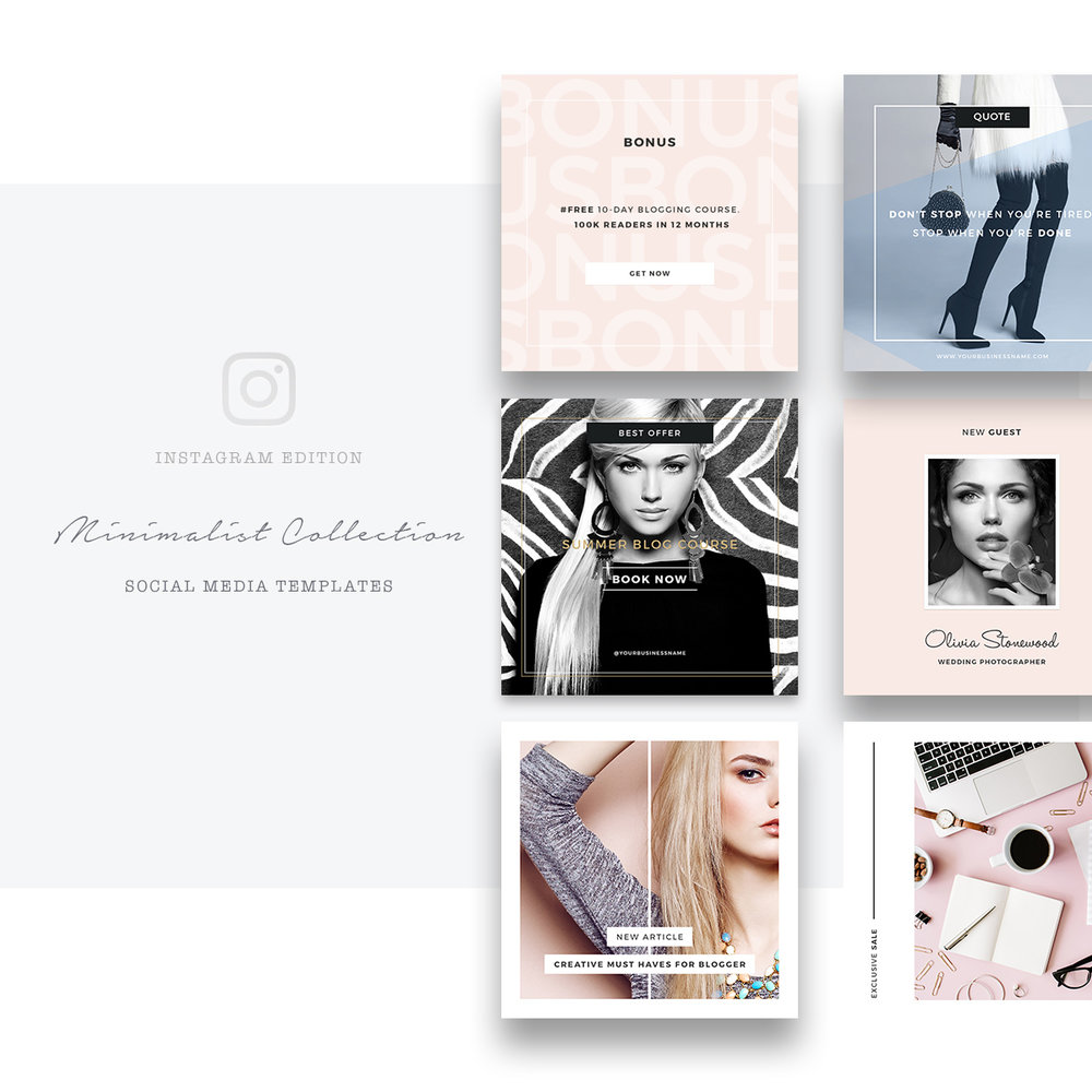 Social Media Templates For Instagram Minimalist