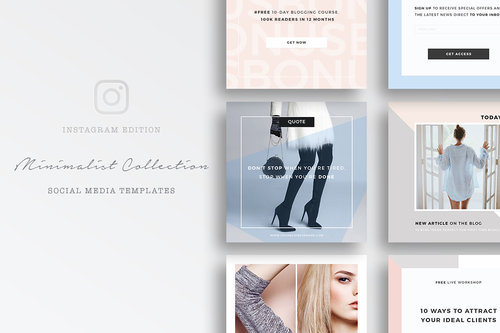 Social media templates for instagram minimalist social media templates photoshopg maxwellsz