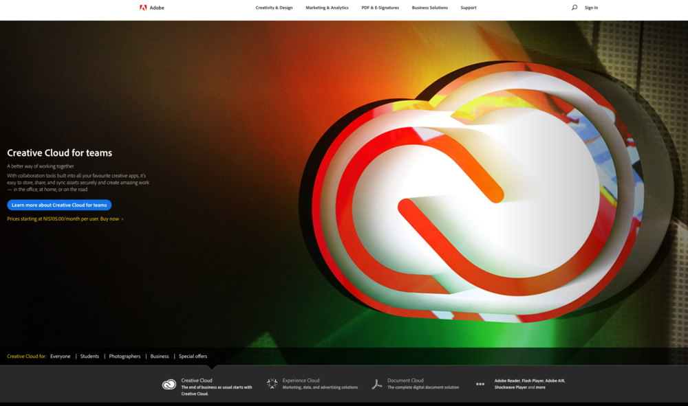creative cloud by Adobe