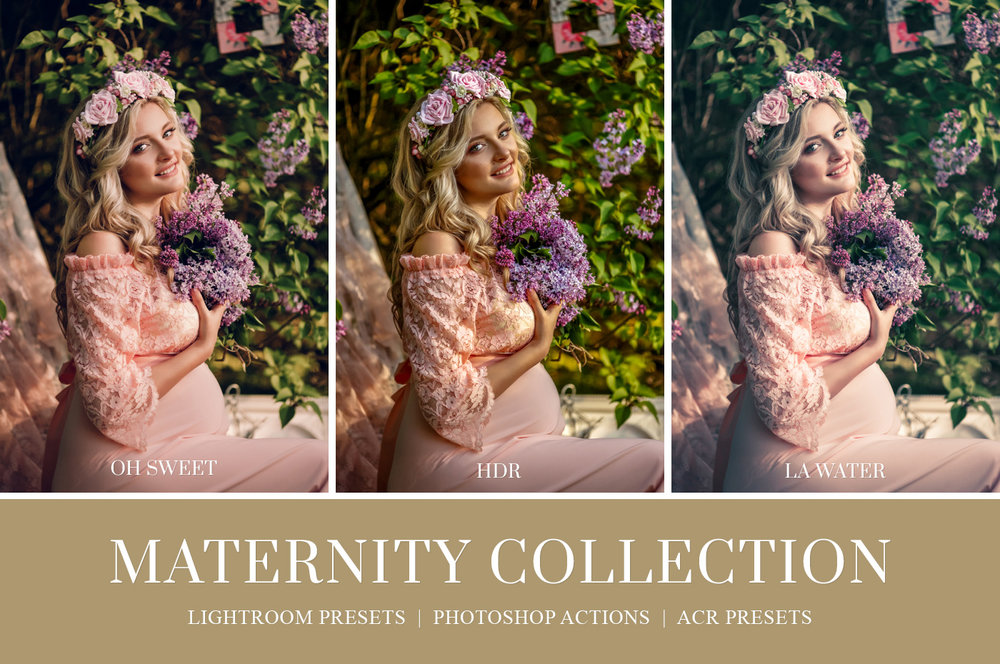 Pregnancy photography Lightroom presets