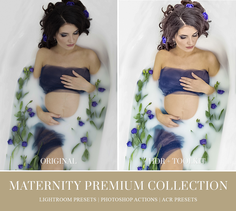 Milk Bath Photo Session Professional Editing in Lightroom