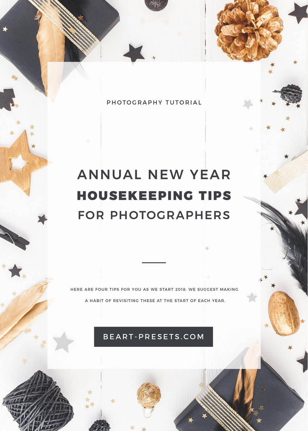 Annual New Year Housekeeping Tips for photographers