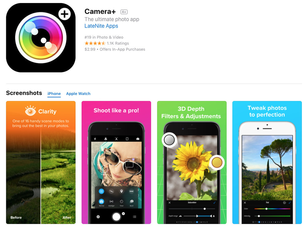 CAMERA PLUS app for devices