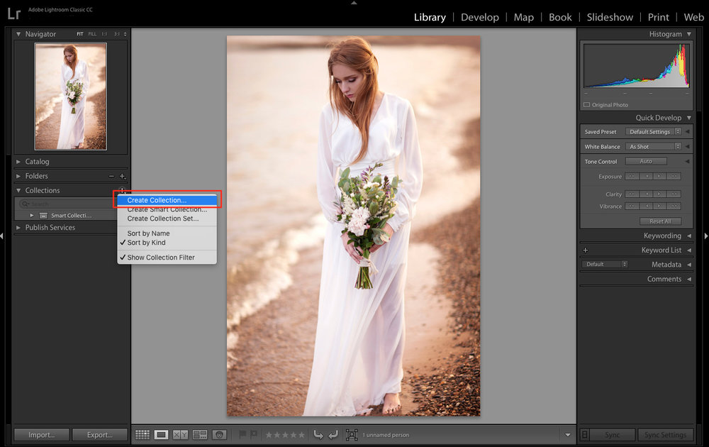 create collection in Lightroom