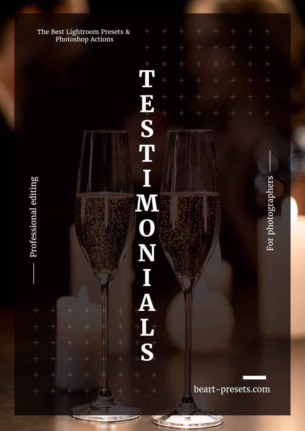 TESTIMONIALS by beart-presets