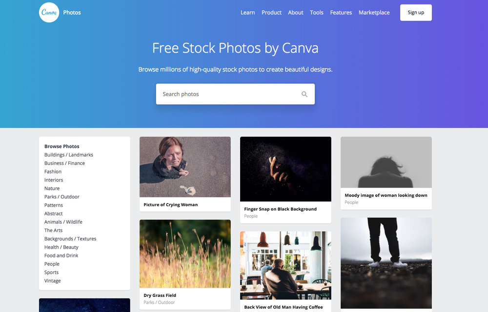 FREE STOCK PHOTOS BY CANVA