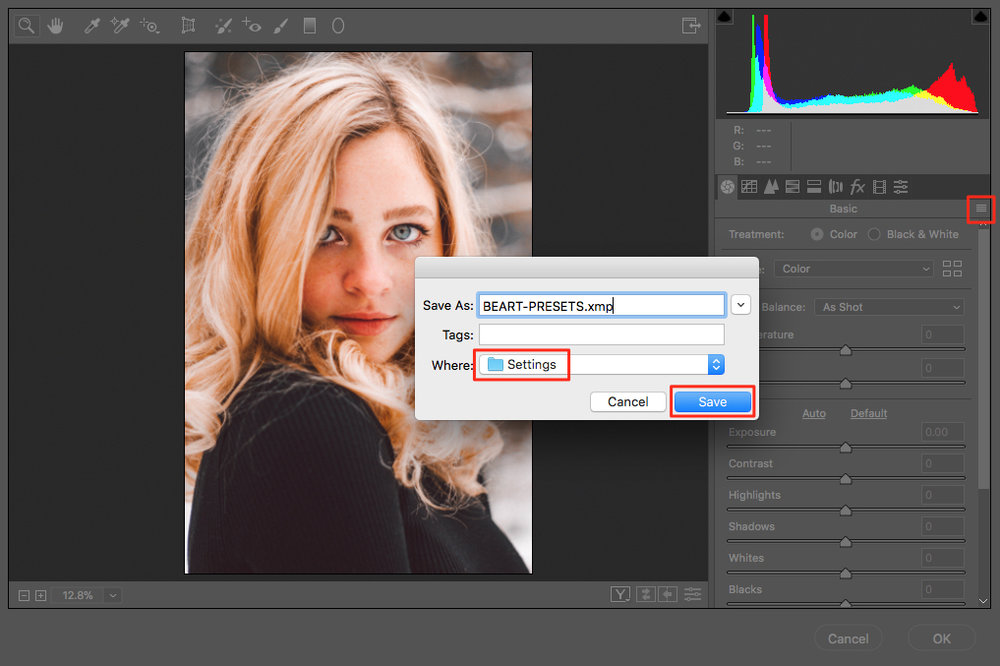SAVE XMP FILE IN PHOTOSHOP