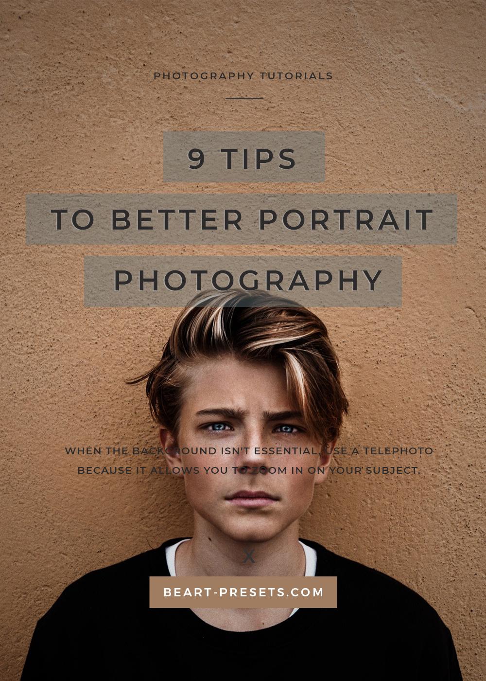 tips for better portrait photo