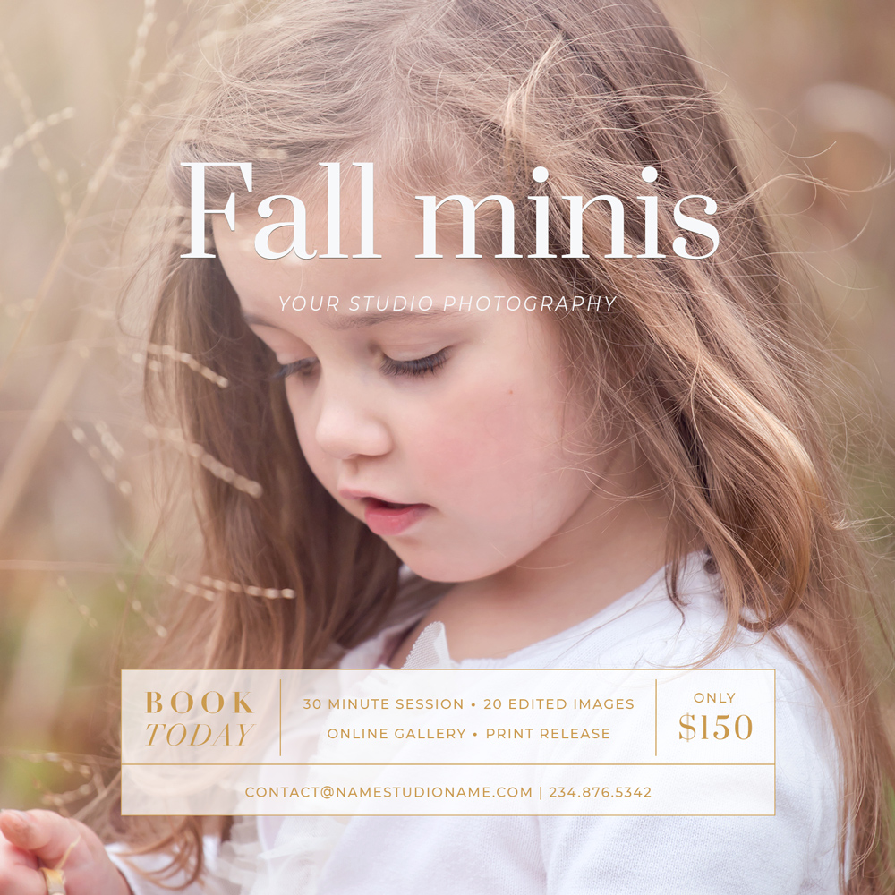 Fall Mini Session Marketing Template for photographer