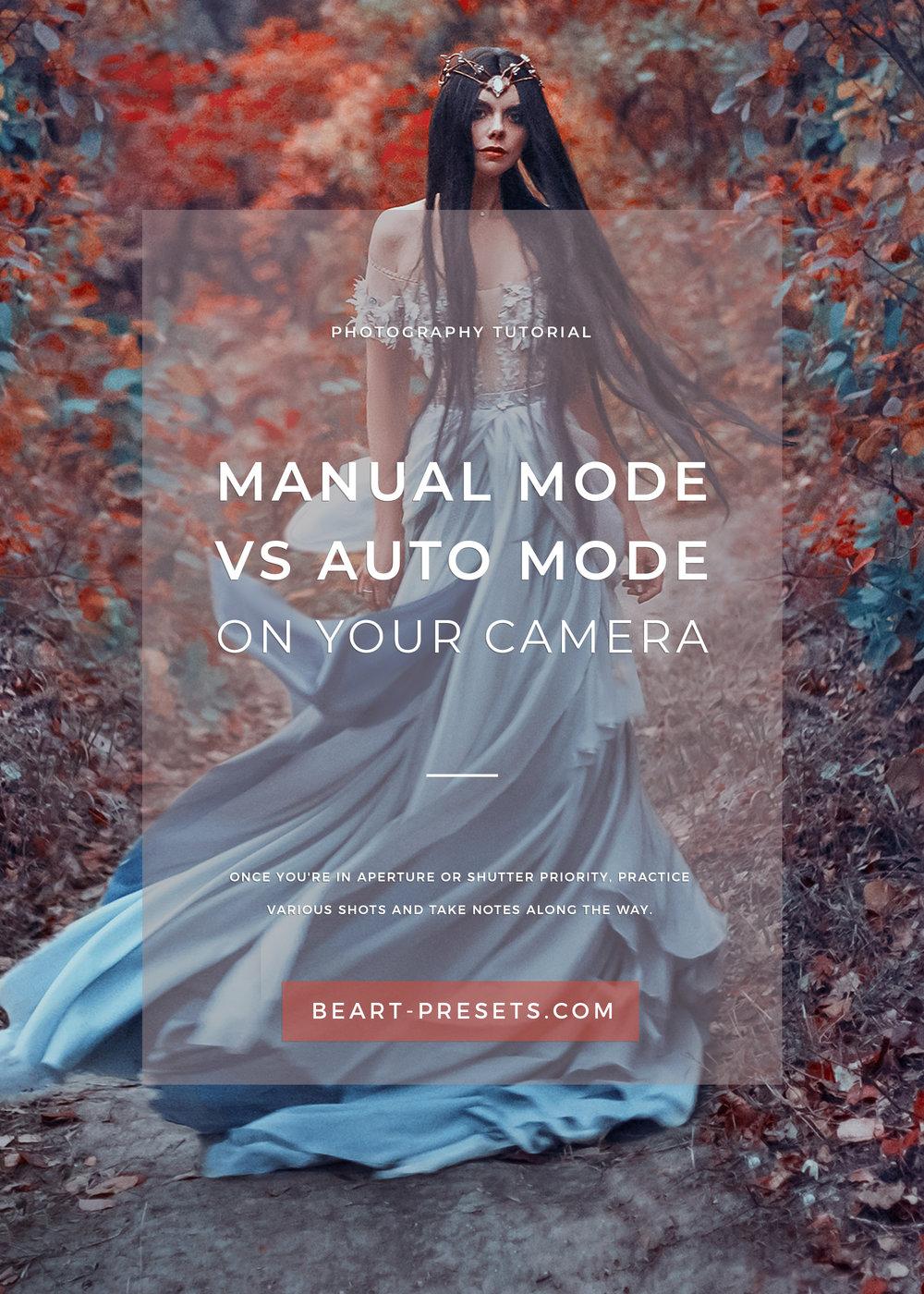 manual mode versus auto mode