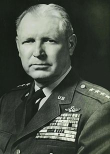 General Otto Weyland, commander of the XIX Tactical Air Command during World War II, and later commander of the Far East Asia Air Forces during the Korean War and commander of the Tactical Air Command during the post war years.