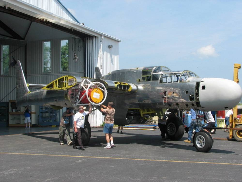 The Mid-Atlantic Air Museum's P-61B, which is currently being restored to flying status. Photo credit Mid-Atlantic Air Museum. Photo credit Mid-Atlantic Air Museum.