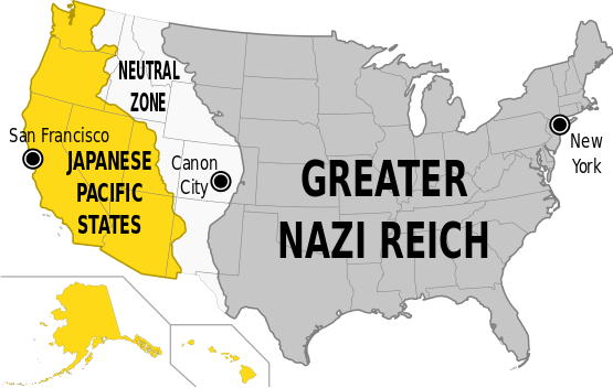 The United States as it appears in The Man in the High Castle