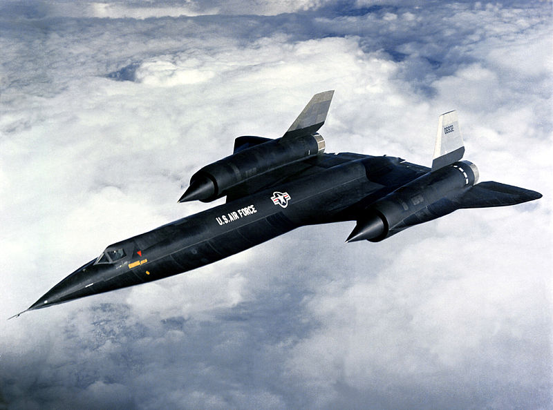 The Lockheed A-12 in flight.