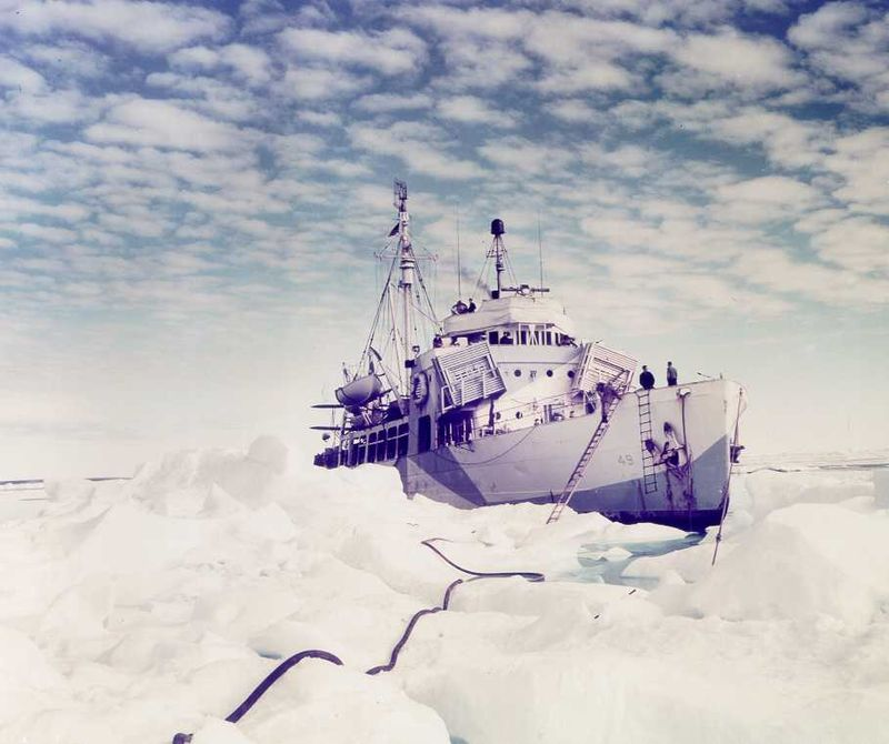 The USCGC Northland (WPG-49), an Arctic cutter originally designed as a cruising cutter, meaning that she was equipped with sails. Originally commissioned on May 7, 1927, she served in a variety of roles until she was decommissioned for the first time in 1938. Recommissioned the following year, she saw extensive service in the Arctic circle during World War II. During this time, she was armed with 2 x 3 in/50 guns, 4 x 20mm anti-aircraft guns, 2 x depth charge racks, and 2 x Y-guns. She was also equipped with a scout plane, a Grumman J2F-5. Her complement was 108 enlisted men and 18 officers. She was decommissioned from the Coast Guard in early 1946 and transferred to the Israeli Navy, where she served until 1946.