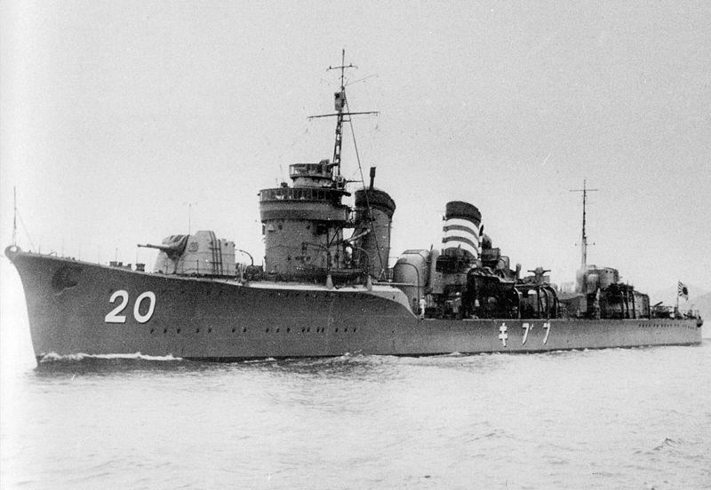 Fubuki, lead ship of her class.