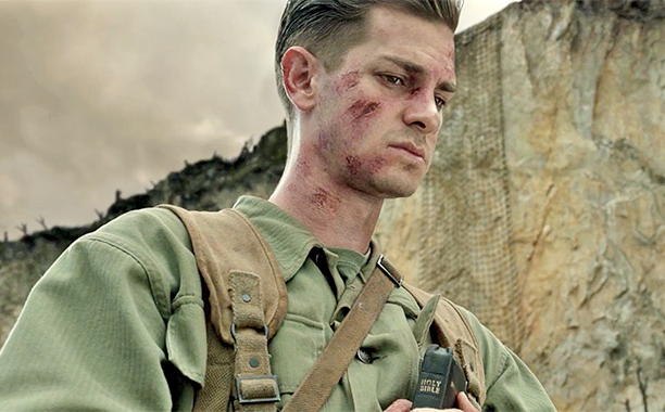 James Garfield stars as Desmond Doss.