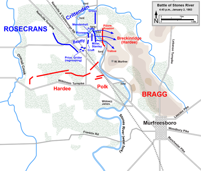 Union forces counterattack following the destruction of Breckenridge's Division.