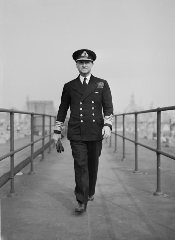 Vice Admiral Sir Bertram Ramsey, in overall command of the evacuation of the BEF from Dunkirk. Working almost constantly in Dover castle, Ramsey's dedication and ultimate success in orchestrating the operation earned him a visit with King George VI as well as the title of Knight Commander of the Order of the Bath. Photo: Wikipedia.