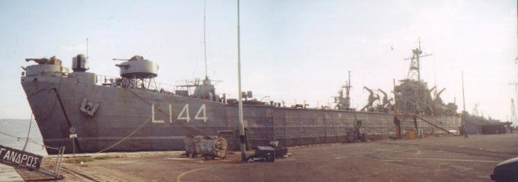 USS LST-325 in service with the Greek Navy. Photo source: navsource.org.