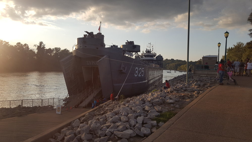 USS LST-325 visits Clarksville, Tennessee in September 2017. Photo source: author.