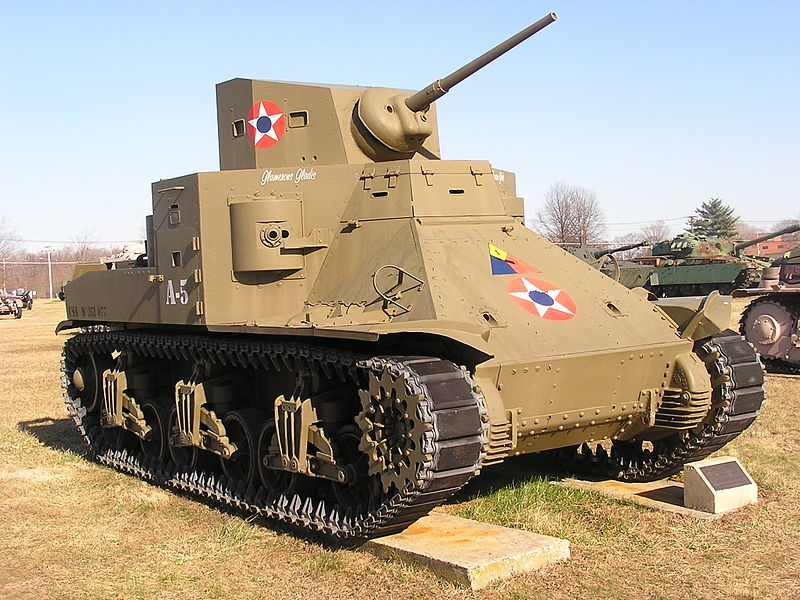 An M2 medium tank. Much of the Sherman's design was drawn from experiences with this tank. Photo source: Wikipedia.